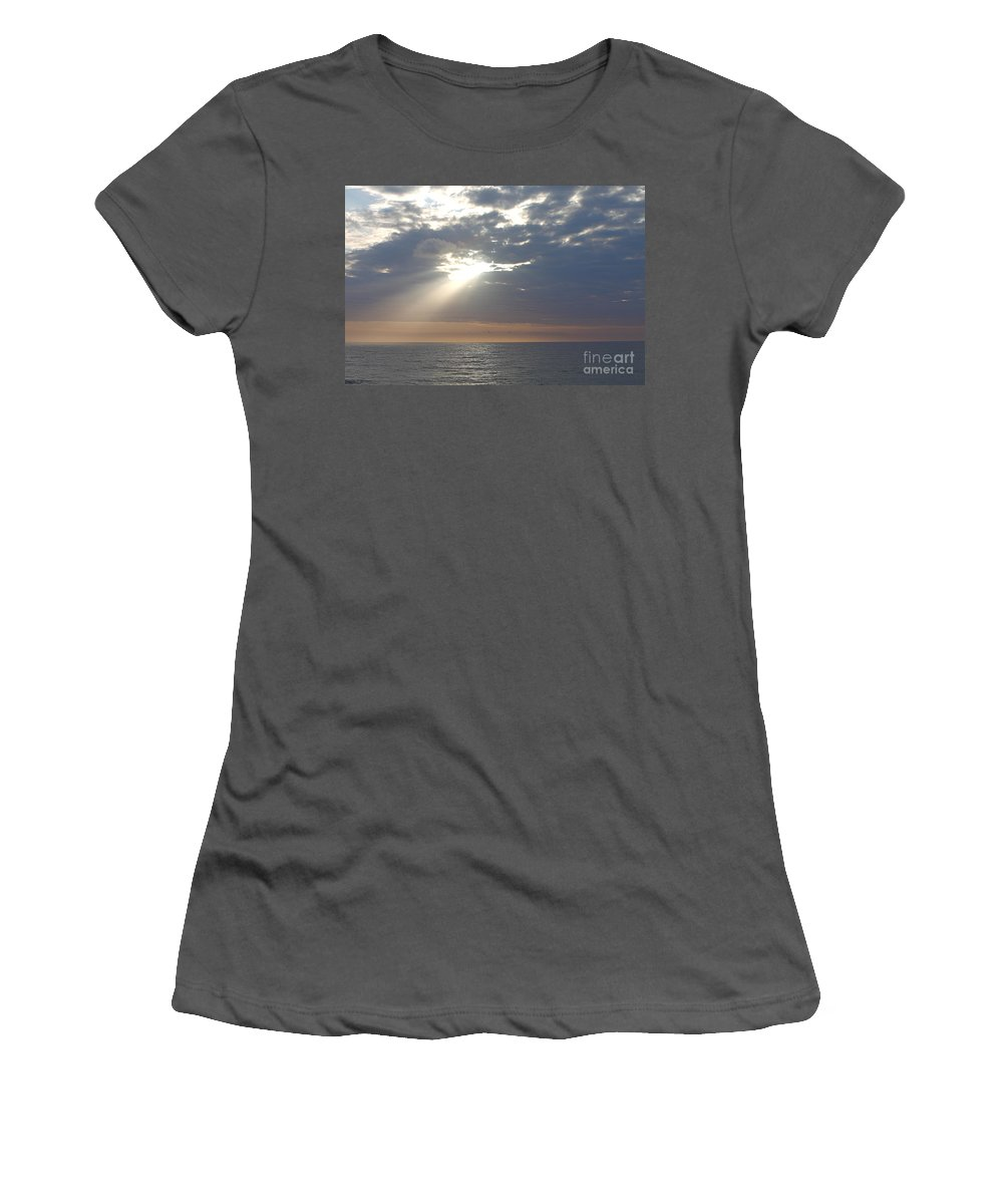 Sky Women's T-Shirt (Athletic Fit) featuring the photograph Morning Sunburst by Nadine Rippelmeyer