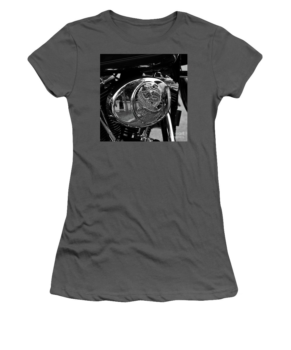 Strong Women's T-Shirt (Athletic Fit) featuring the photograph Motorcycle by Avril Christophe