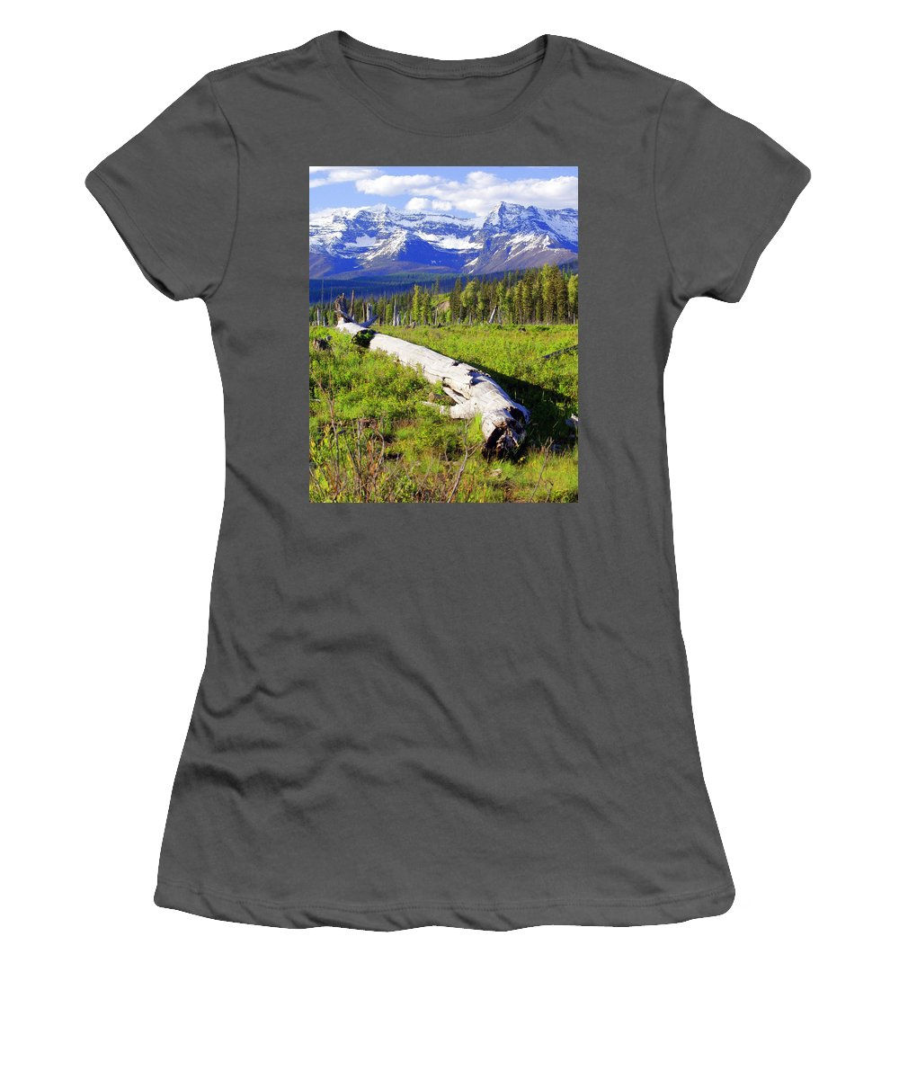 Mountain Women's T-Shirt (Athletic Fit) featuring the photograph Mountain Splendor by Marty Koch