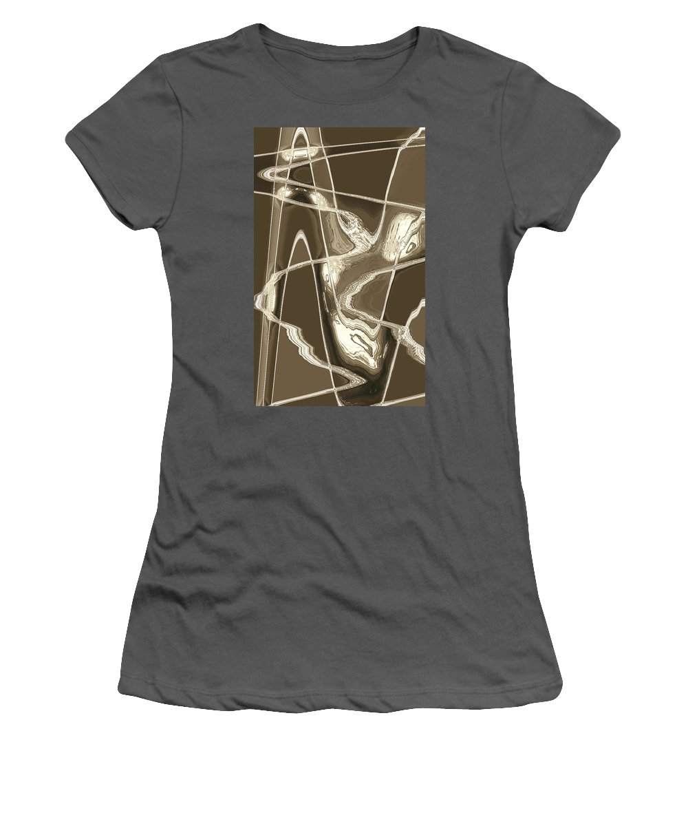 Moveonart Digital Gallery San Francisco California Lower Nob Hill Jacob Kane Kanduch Women's T-Shirt (Athletic Fit) featuring the digital art Moveonart Move 14 by Jacob Kanduch