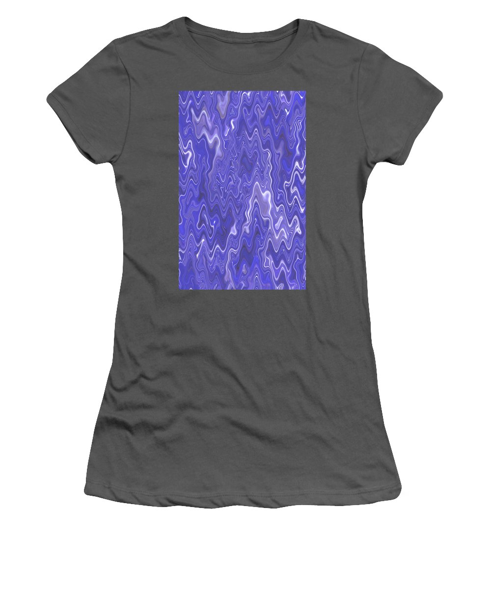 Moveonart! Digital Gallery Women's T-Shirt (Athletic Fit) featuring the digital art Moveonart Peaceful Interactive Visual Therapy 2 by Jacob Kanduch