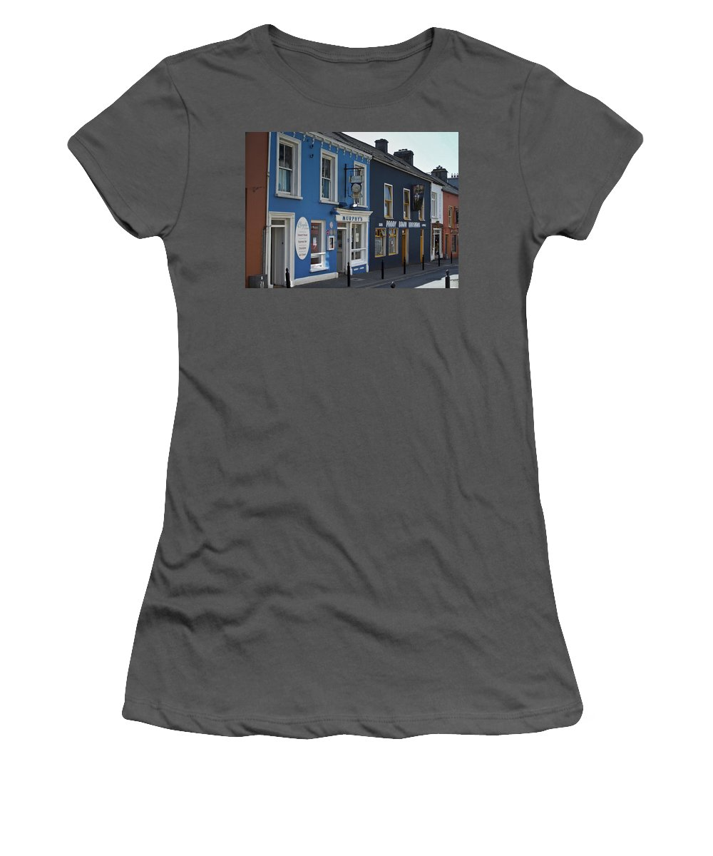 Irish Women's T-Shirt (Athletic Fit) featuring the photograph Murphys Ice Cream Dingle Ireland by Teresa Mucha