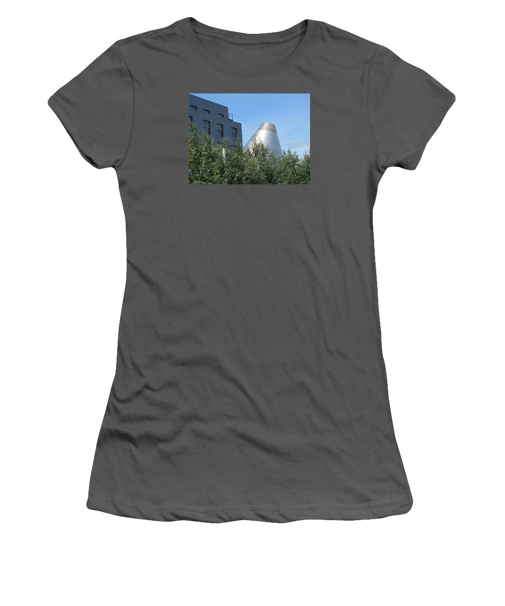 Museum Of Glass Women's T-Shirt (Athletic Fit) featuring the photograph Museum Of Glass 5 by Cindy Kellogg