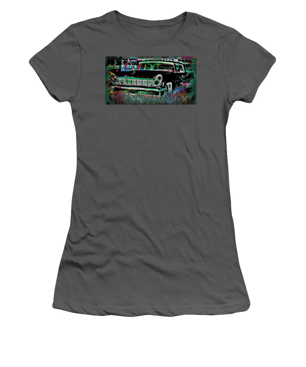 Women's T-Shirt (Athletic Fit) featuring the photograph My Blackish Night by Jerry Lawhead