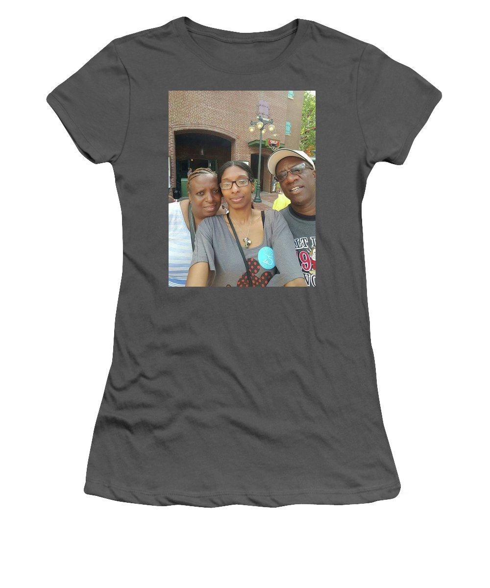 This Is Simply A Picture Of My Friends I Call My Family Women's T-Shirt (Athletic Fit) featuring the photograph My Family by Andrew Donnell
