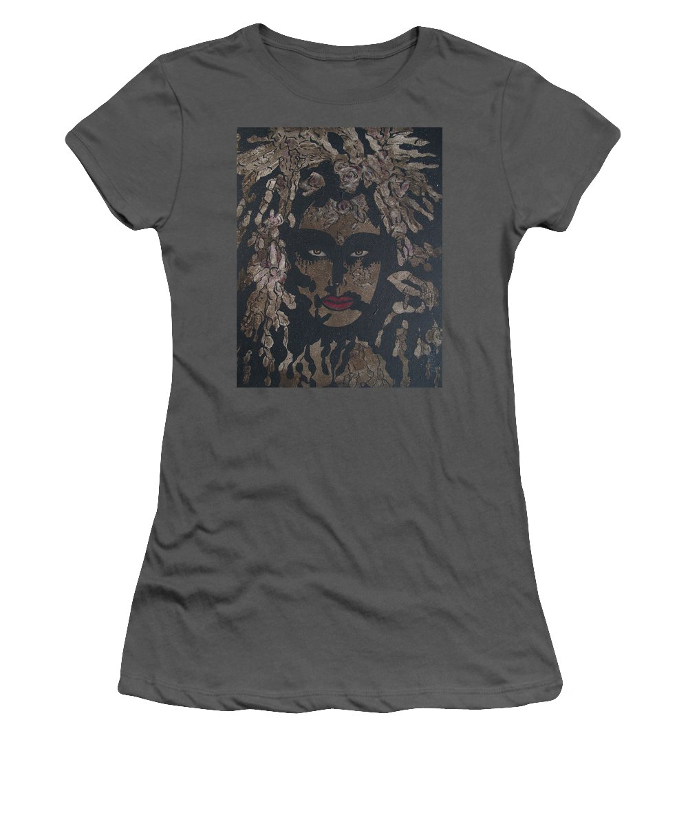 Figurative Women's T-Shirt (Athletic Fit) featuring the painting Mysterious Desire by Natalie Holland