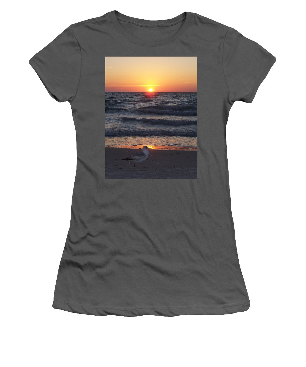 Naples Women's T-Shirt (Athletic Fit) featuring the photograph Naples Sunset 0042 by Laurie Paci