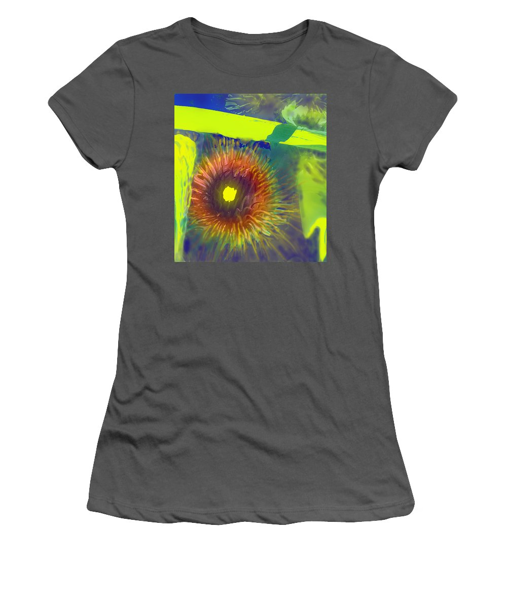 Flower Women's T-Shirt (Athletic Fit) featuring the digital art Natures Own by Ian MacDonald