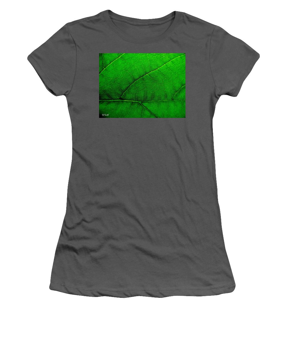Natures Road Map Women's T-Shirt (Athletic Fit) featuring the photograph Natures Road Map by Ed Smith