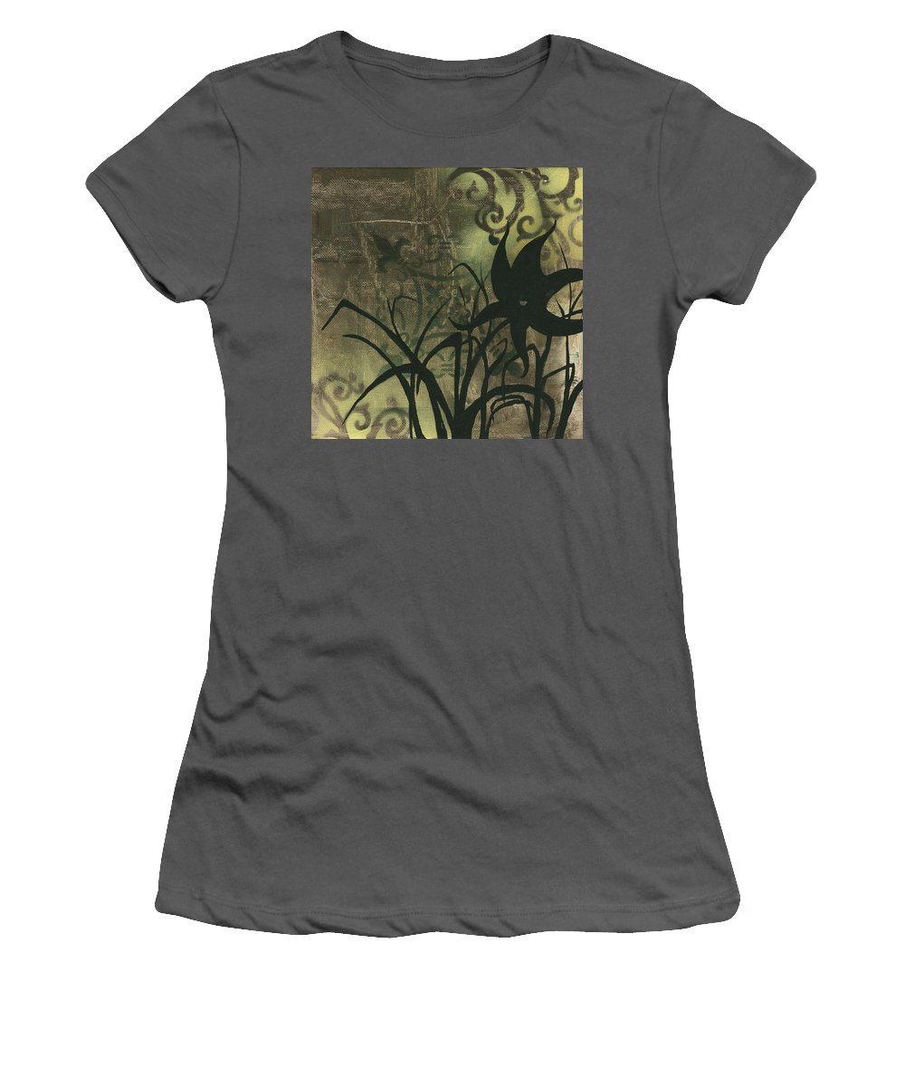 Painting Women's T-Shirt (Athletic Fit) featuring the painting Natures Whimsy 6 By Madart by Megan Duncanson