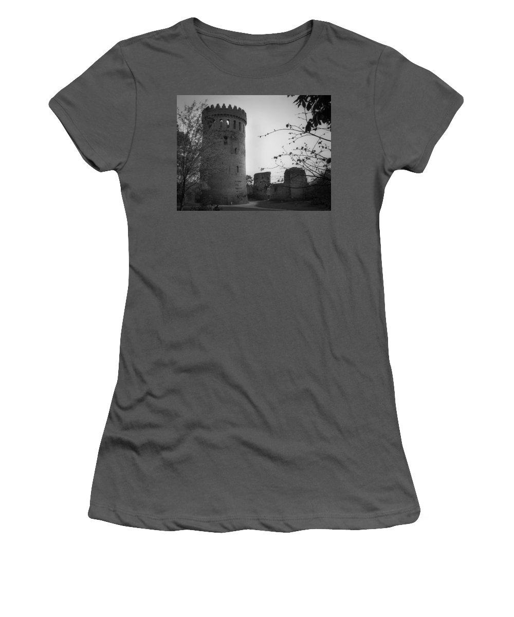 Ireland Women's T-Shirt (Athletic Fit) featuring the photograph Nenagh Castle County Tipperary Ireland by Teresa Mucha