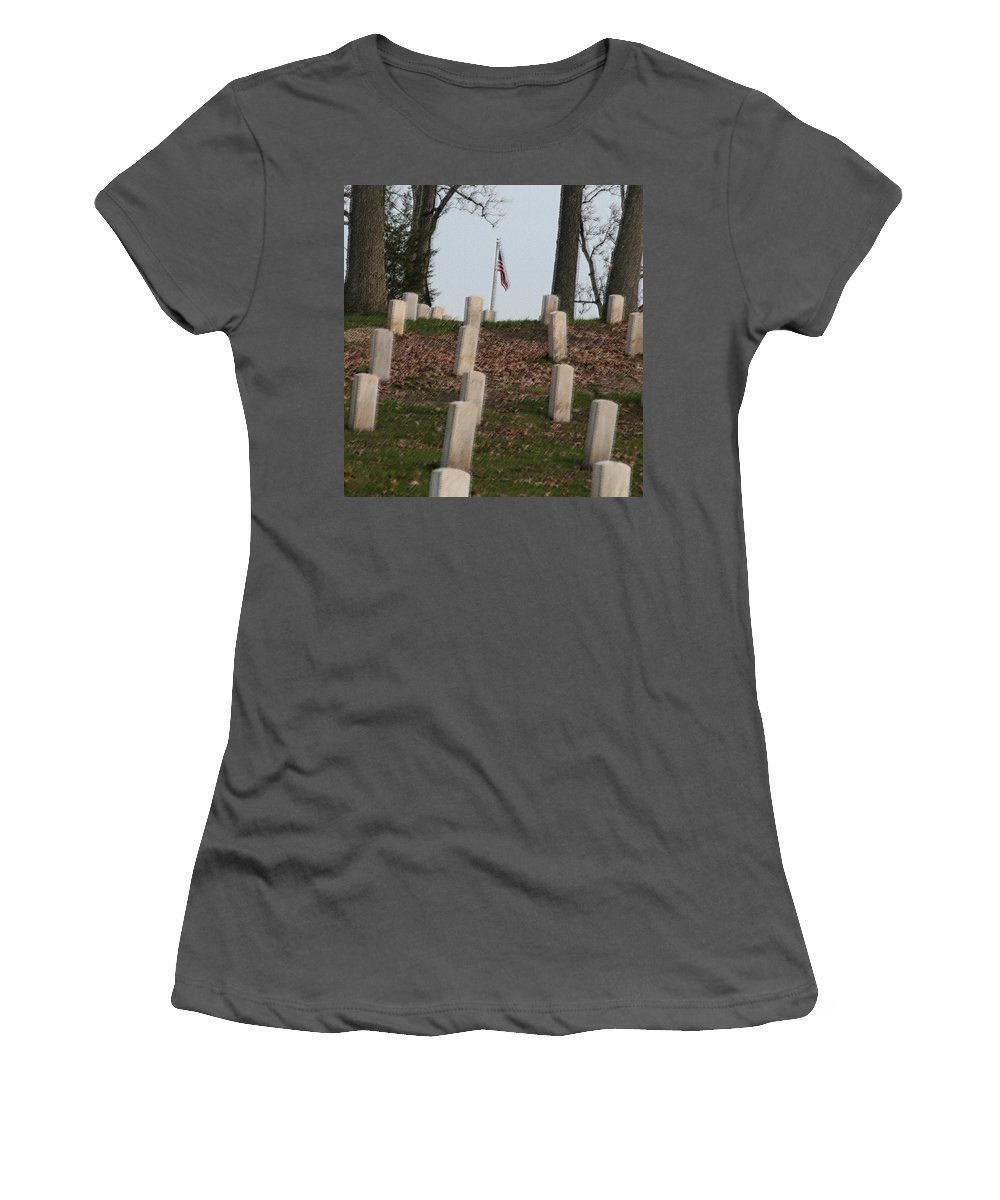 America Women's T-Shirt (Athletic Fit) featuring the photograph Never Forget The Cost by Robert Pearson