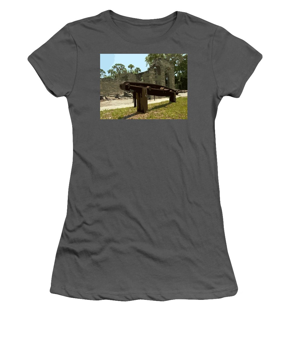 Sigar Women's T-Shirt (Athletic Fit) featuring the photograph New Smyrma Sugar Mill by Allan Hughes