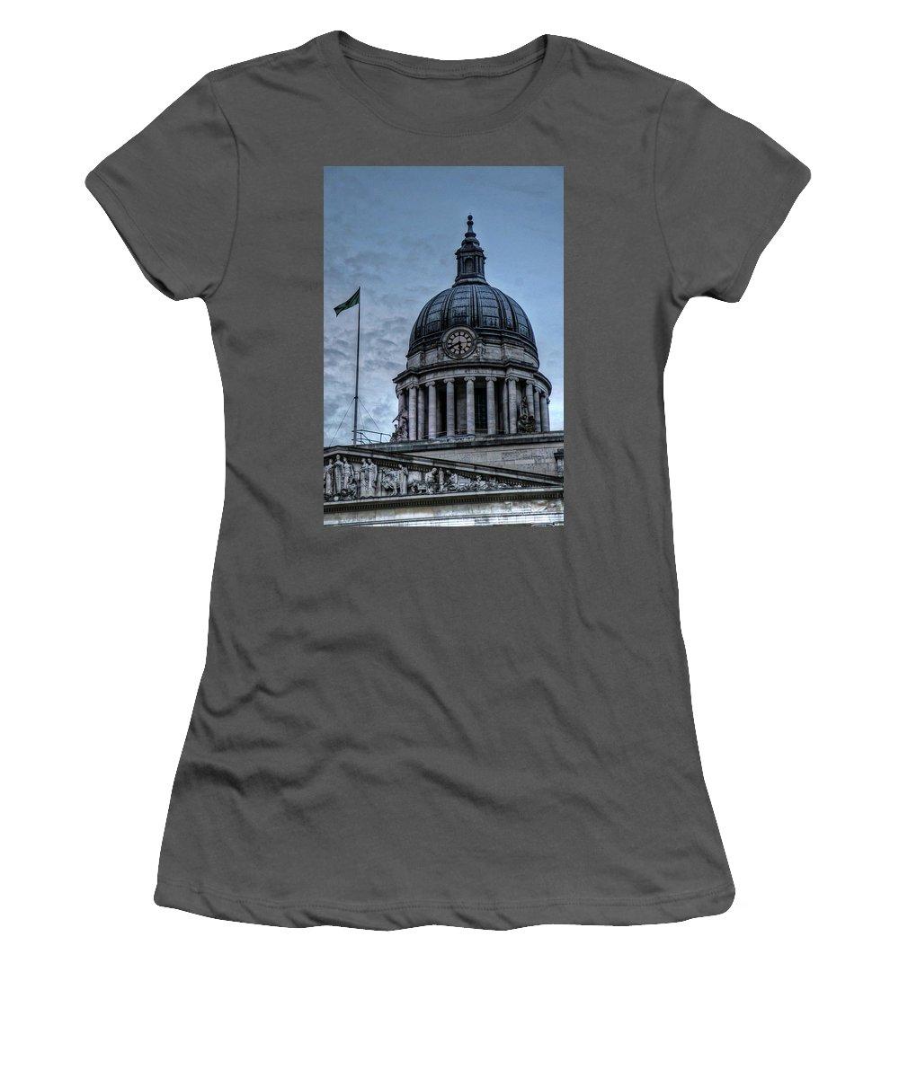Nottingham England United Kingdom Uk Women's T-Shirt (Athletic Fit) featuring the photograph Nottingham England United Kingdom Uk by Paul James Bannerman