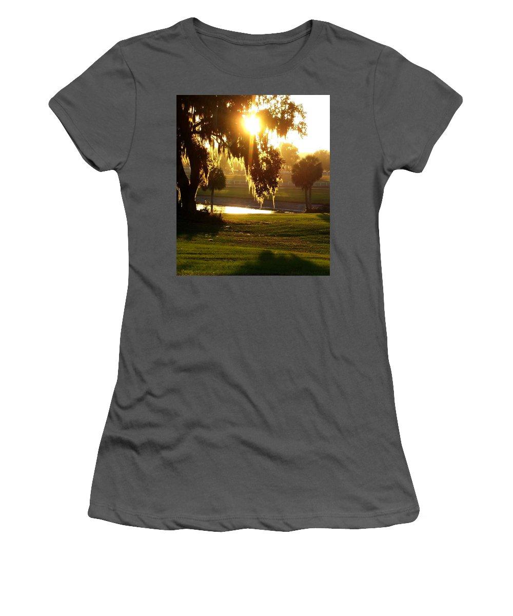 Sunset Women's T-Shirt (Athletic Fit) featuring the photograph Ocala Sunset by Kristen Wesch