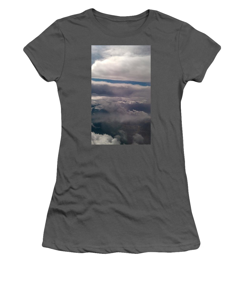 Clouds Women's T-Shirt (Athletic Fit) featuring the photograph Ocean In The Sky by Tamivision