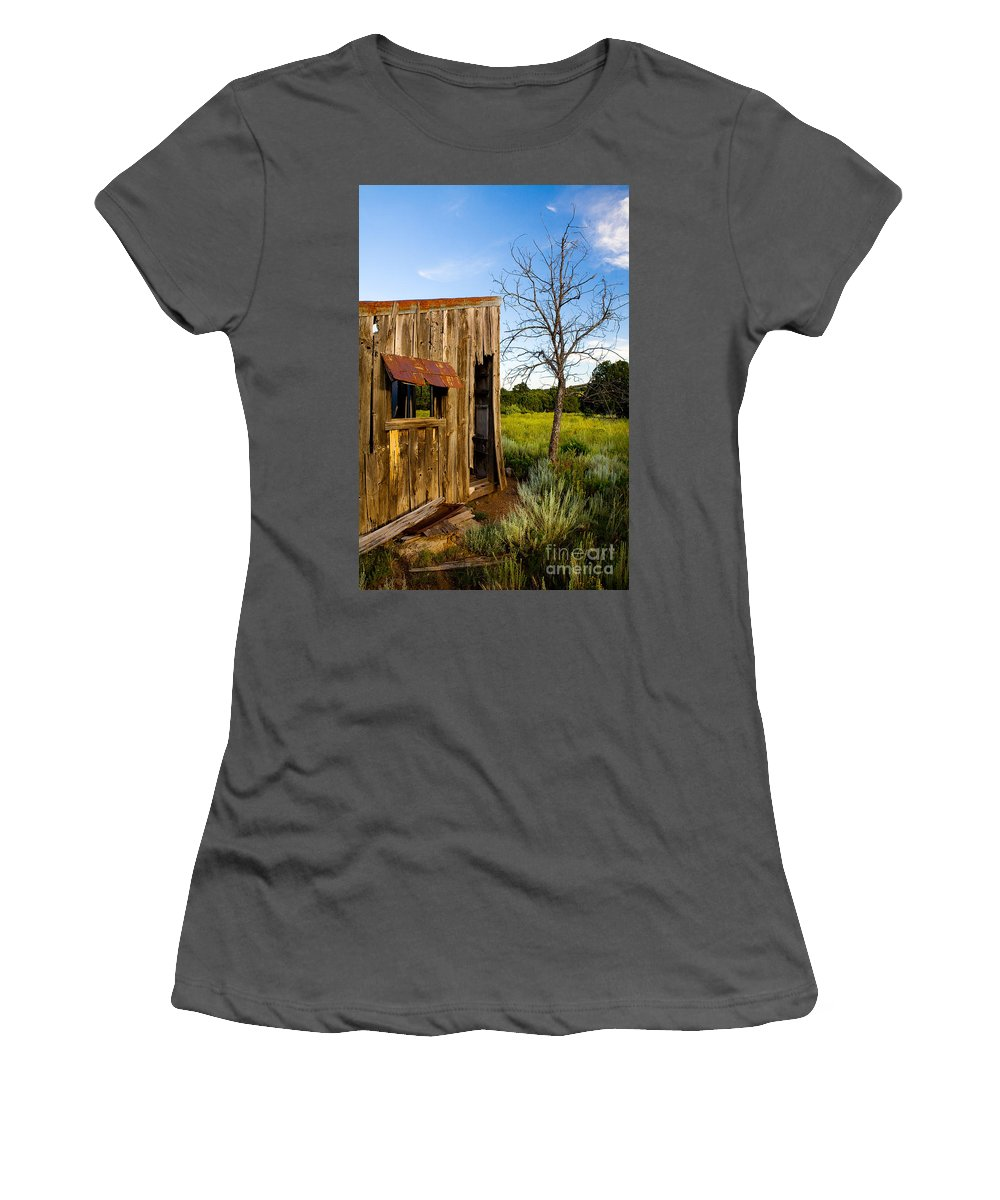Barn Women's T-Shirt (Athletic Fit) featuring the photograph Old Barn And Tree by Matt Suess