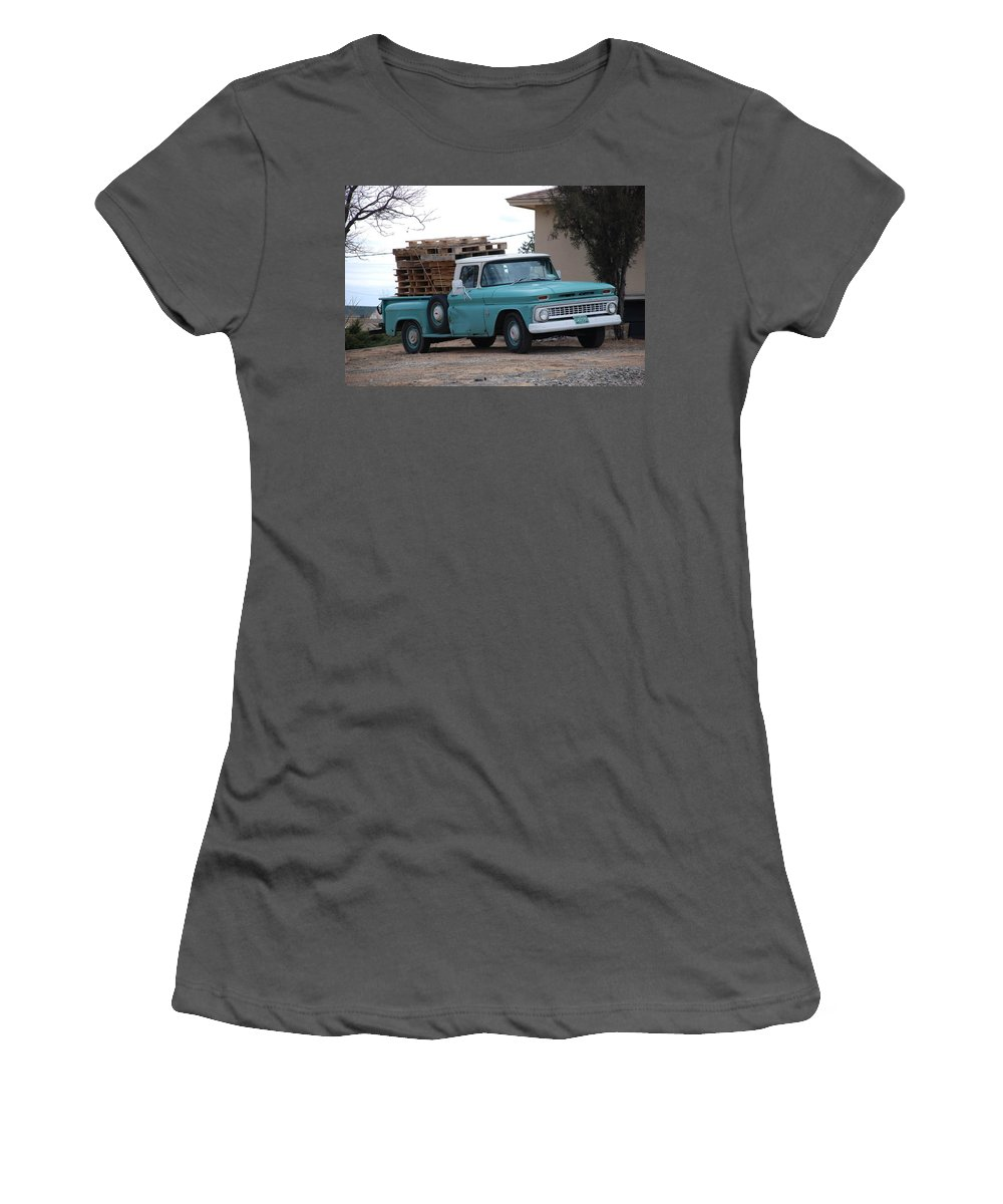 Old Truck Women's T-Shirt (Athletic Fit) featuring the photograph Old Chevy by Rob Hans