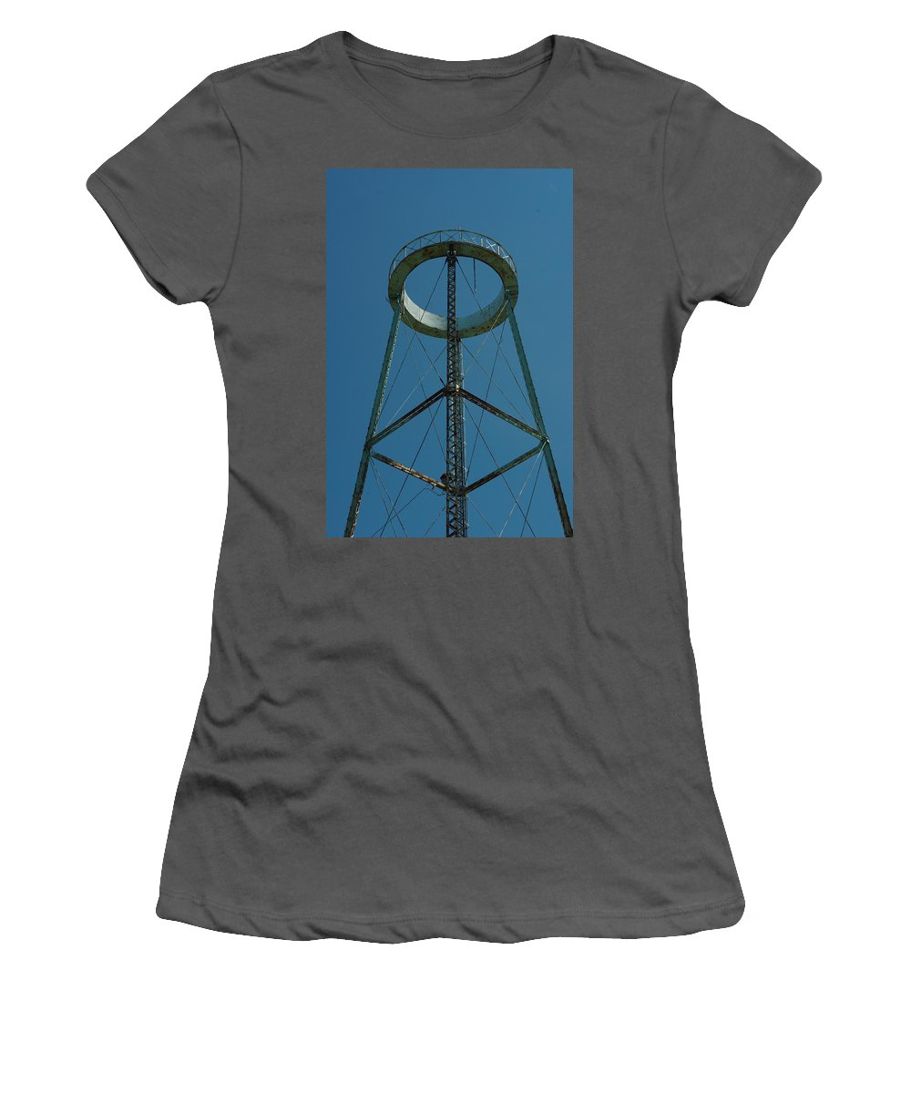 Watertower Women's T-Shirt (Athletic Fit) featuring the photograph Old Watertower by Alice Markham