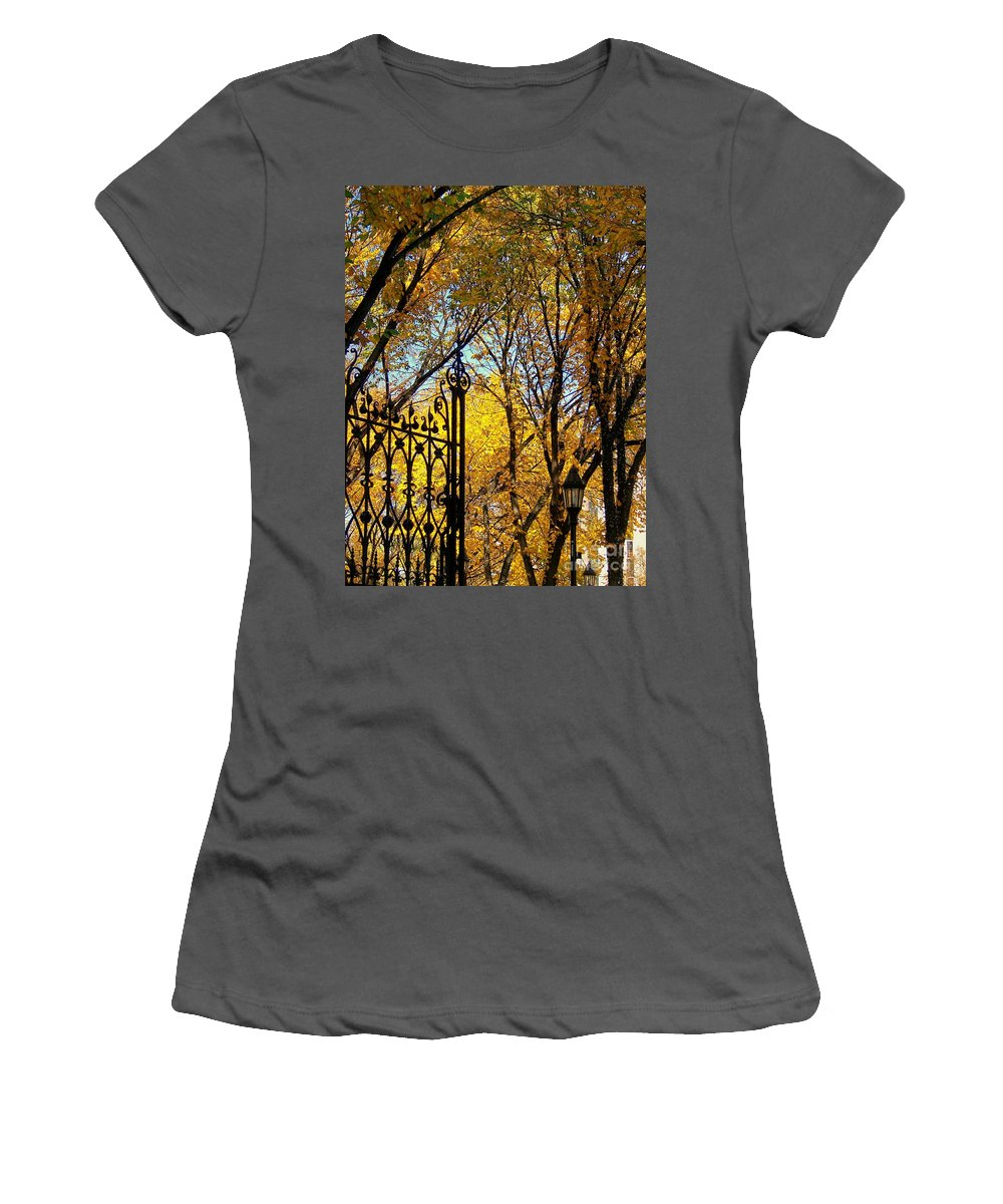 On Duty Women's T-Shirt (Athletic Fit) featuring the photograph On Duty by Greg Hammond