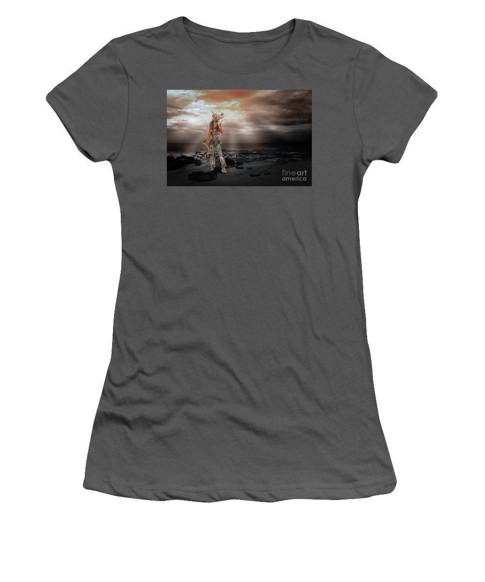 Composite Women's T-Shirt (Athletic Fit) featuring the photograph On The Beach by Noelene Kuzman