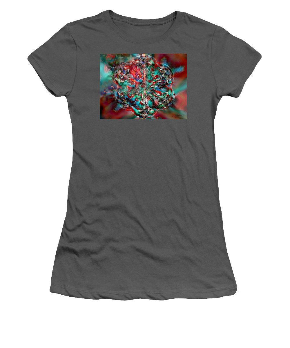 Heart Passion Life Women's T-Shirt (Athletic Fit) featuring the digital art Open Heart by Veronica Jackson