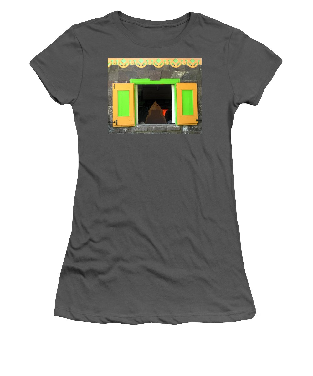 Window Women's T-Shirt (Athletic Fit) featuring the photograph Open Window by Ian MacDonald