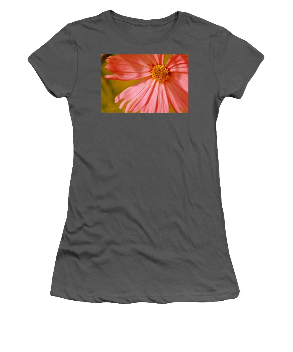 Flower Women's T-Shirt (Athletic Fit) featuring the photograph Orange Cosmo by Donna Bentley