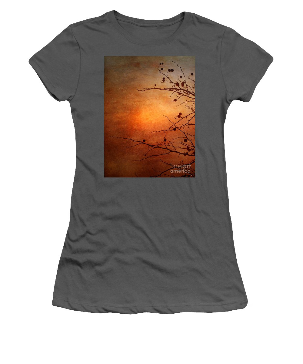 Orange Women's T-Shirt (Athletic Fit) featuring the photograph Orange Simplicity by Tara Turner