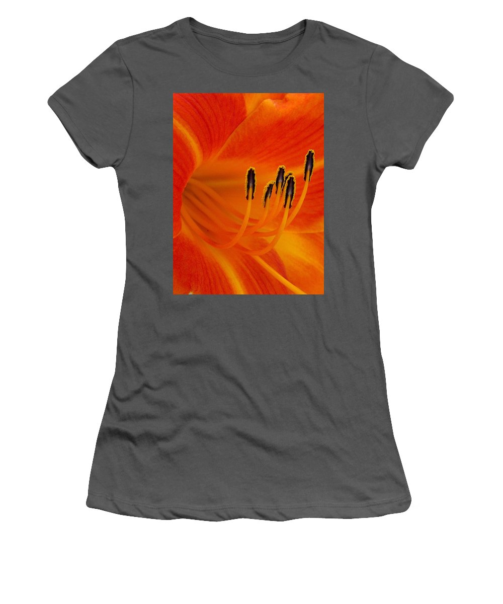 Floral Women's T-Shirt (Athletic Fit) featuring the photograph Orange You Glad by Marla McFall