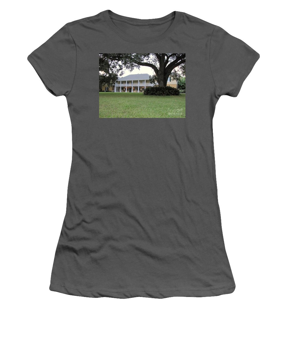 Plantation Homes Women's T-Shirt (Athletic Fit) featuring the photograph Ormond Plantation by Michelle Powell
