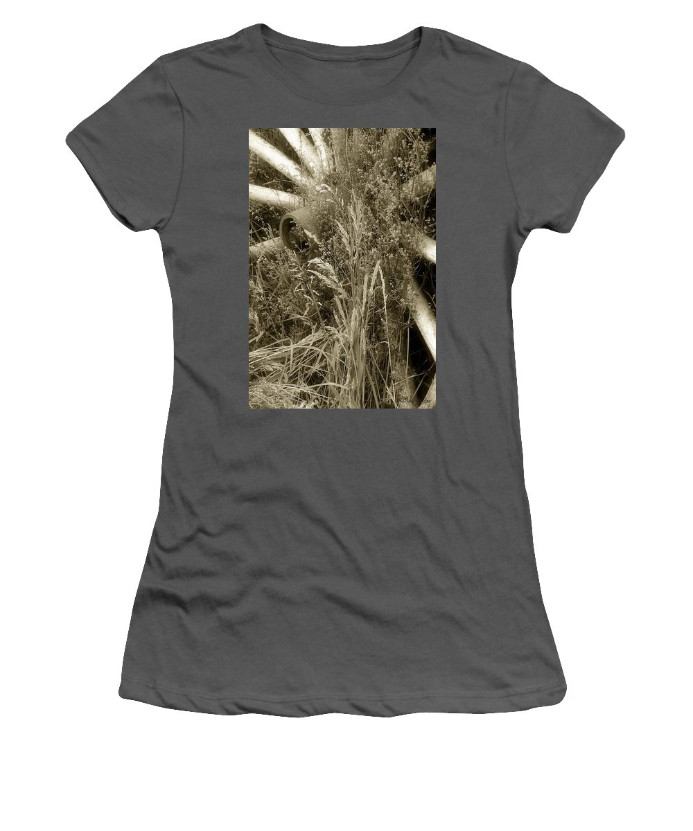Abandoned Women's T-Shirt (Athletic Fit) featuring the photograph Ornament For A Wild Garden by RC DeWinter