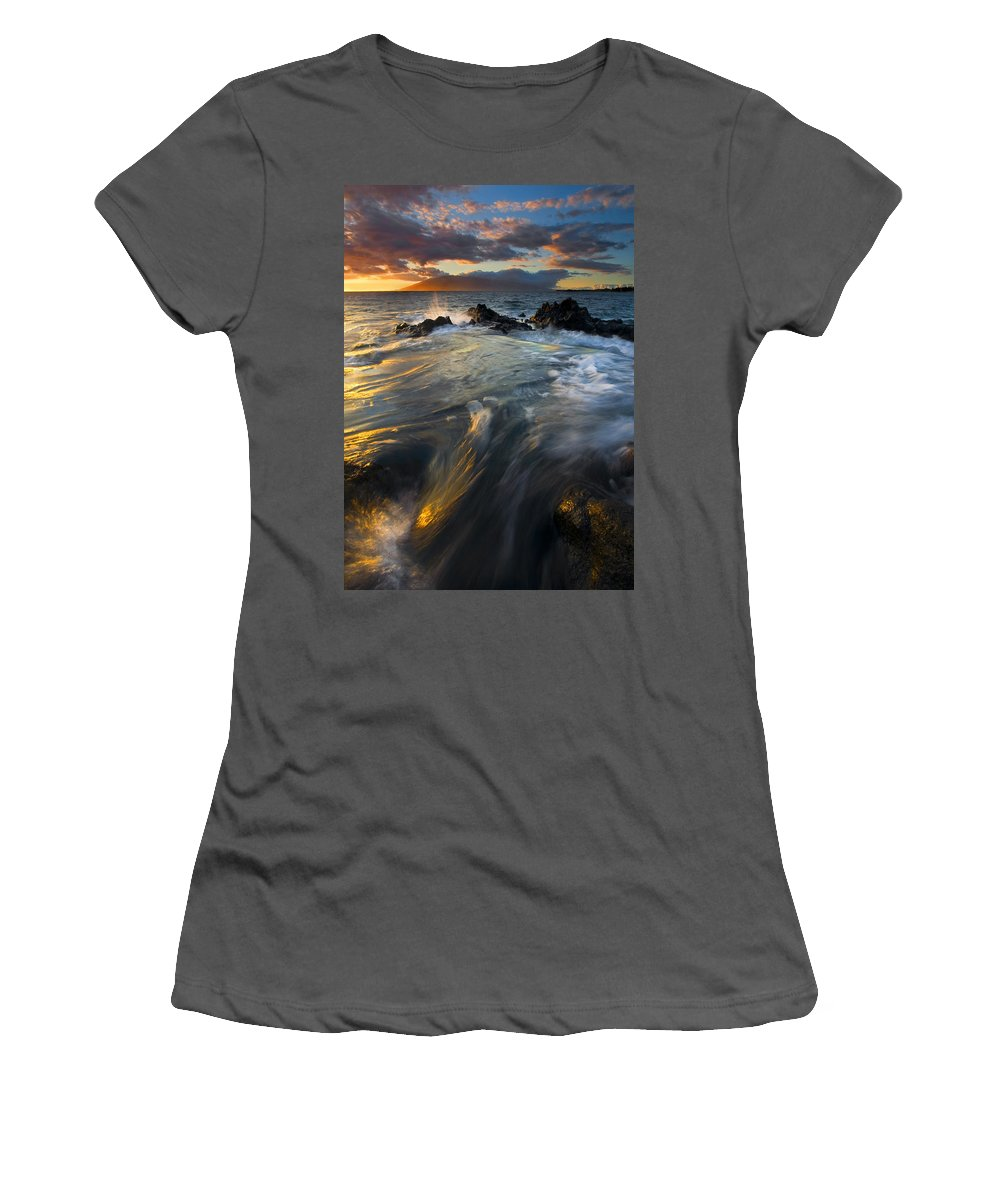 Cauldron Women's T-Shirt (Athletic Fit) featuring the photograph Overflow by Mike Dawson