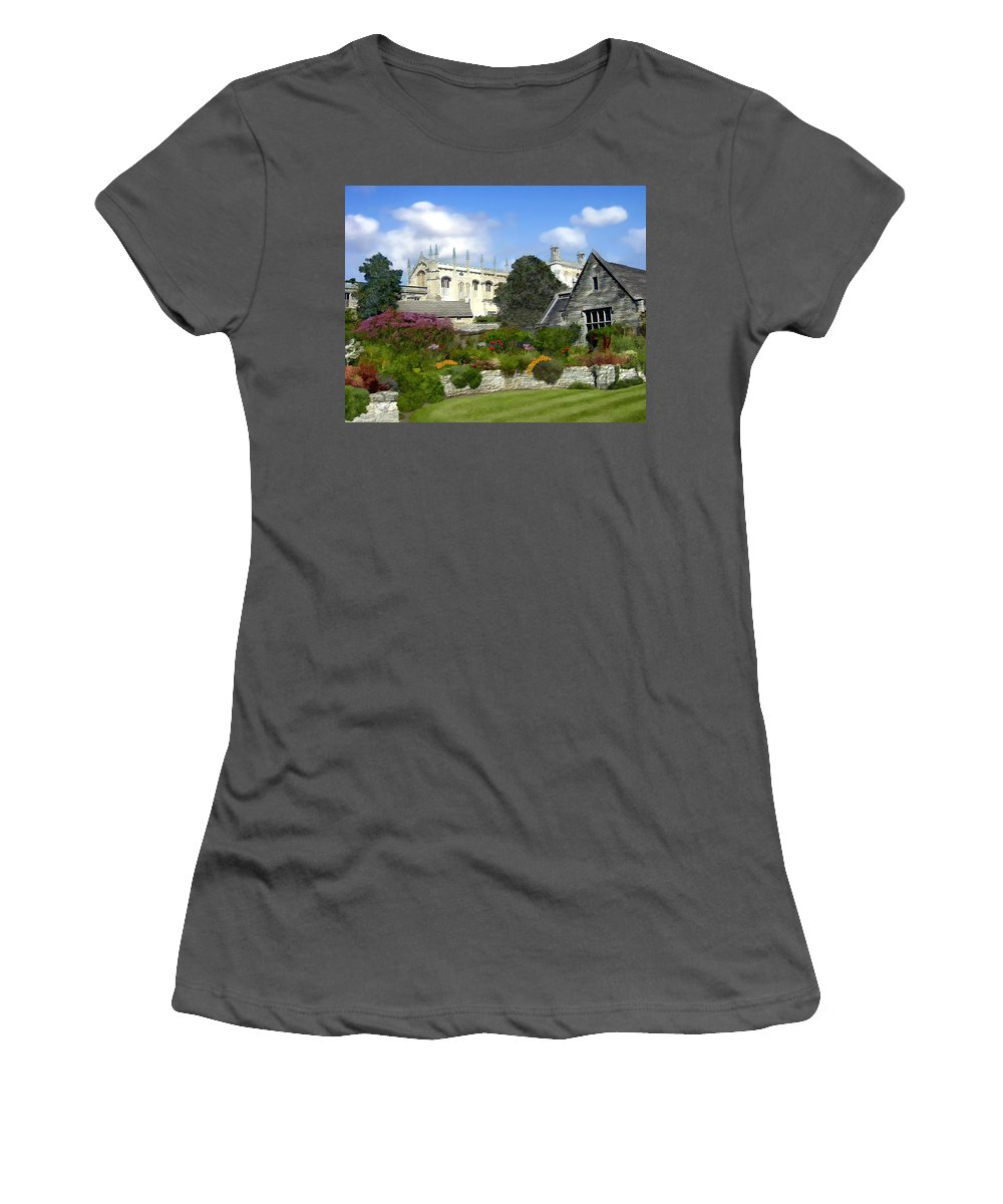 Oxford Women's T-Shirt (Athletic Fit) featuring the photograph Oxford England by Kurt Van Wagner