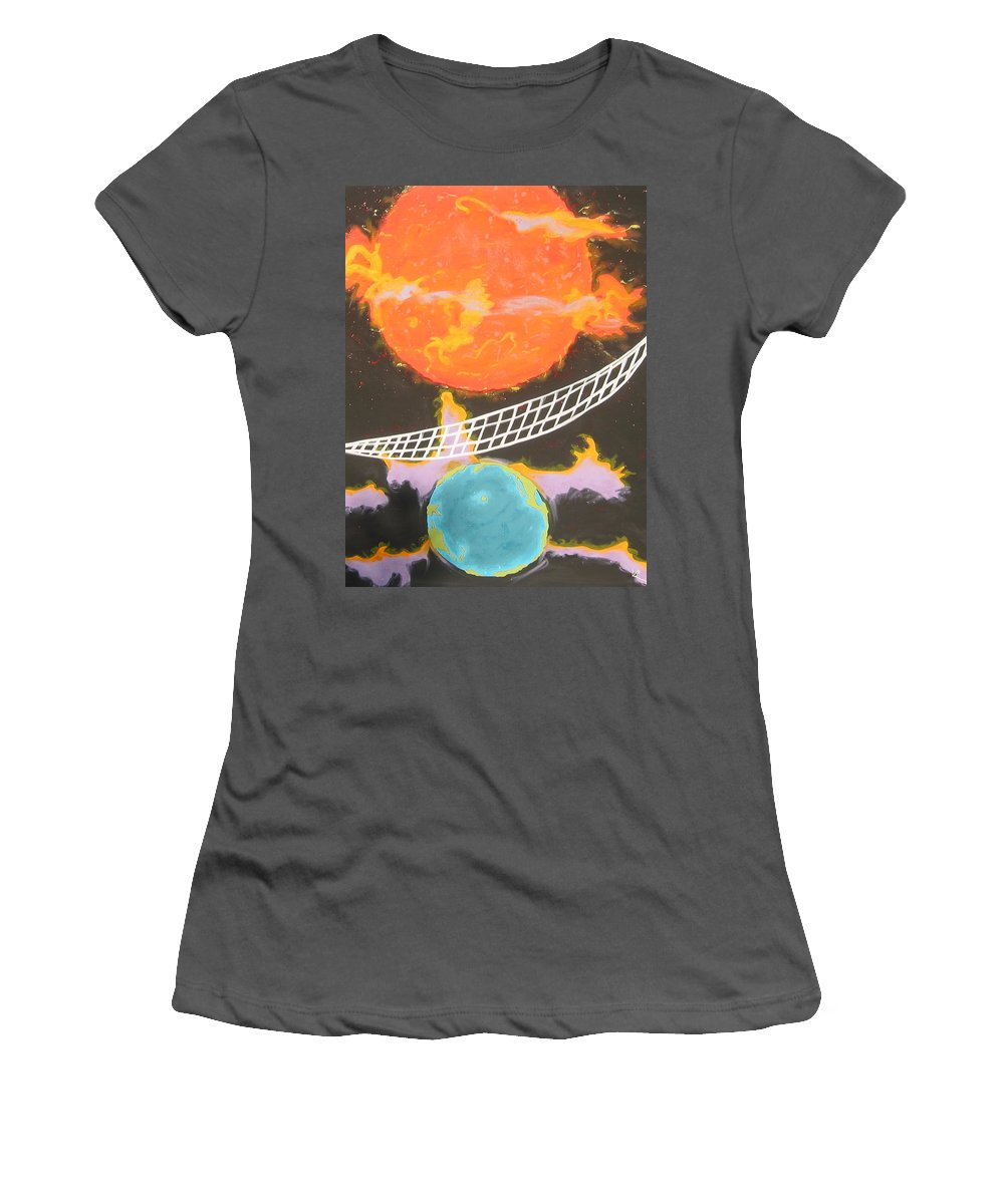 Environment Women's T-Shirt (Athletic Fit) featuring the painting Ozone Net by V Boge