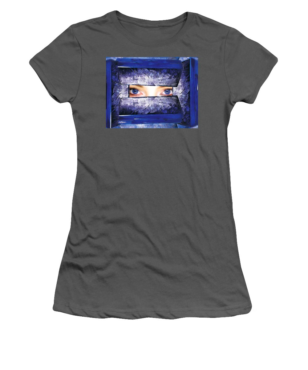 Pandora Women's T-Shirt (Athletic Fit) featuring the photograph Pandora's Box by Seth Weaver