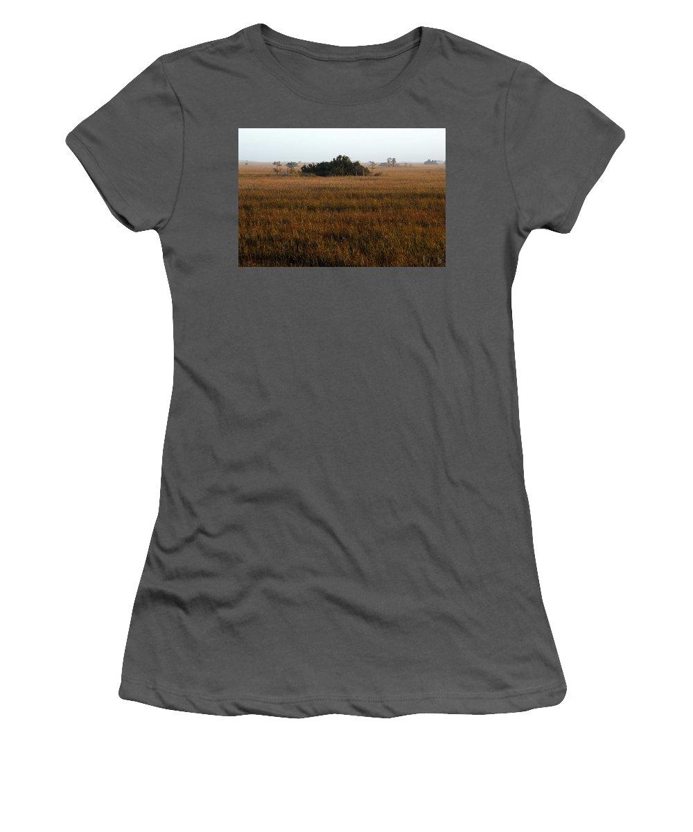 Hammock Women's T-Shirt (Athletic Fit) featuring the painting Papaya Hammock by David Lee Thompson