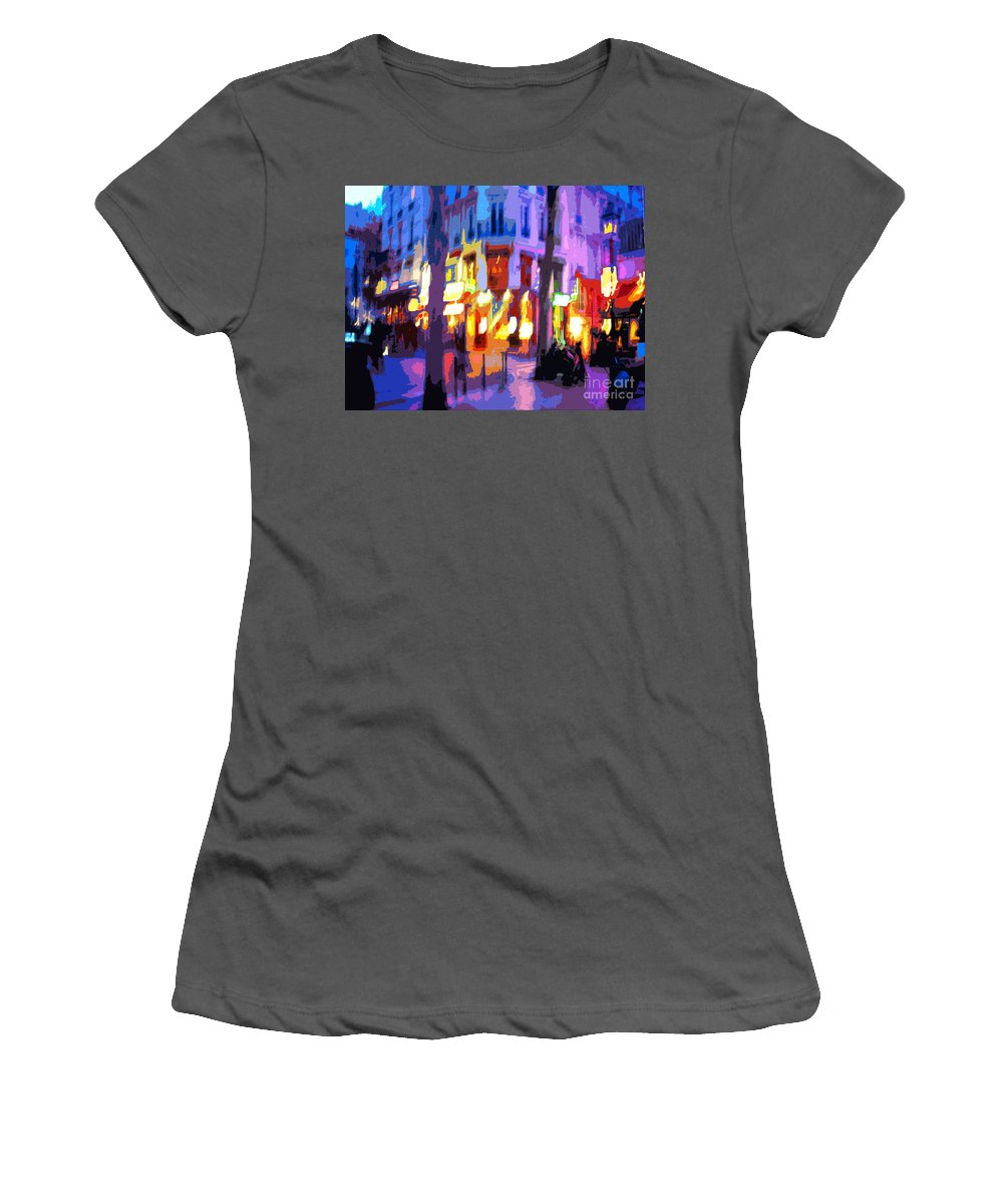 Paris Women's T-Shirt (Athletic Fit) featuring the photograph Paris Quartier Latin 02 by Yuriy Shevchuk