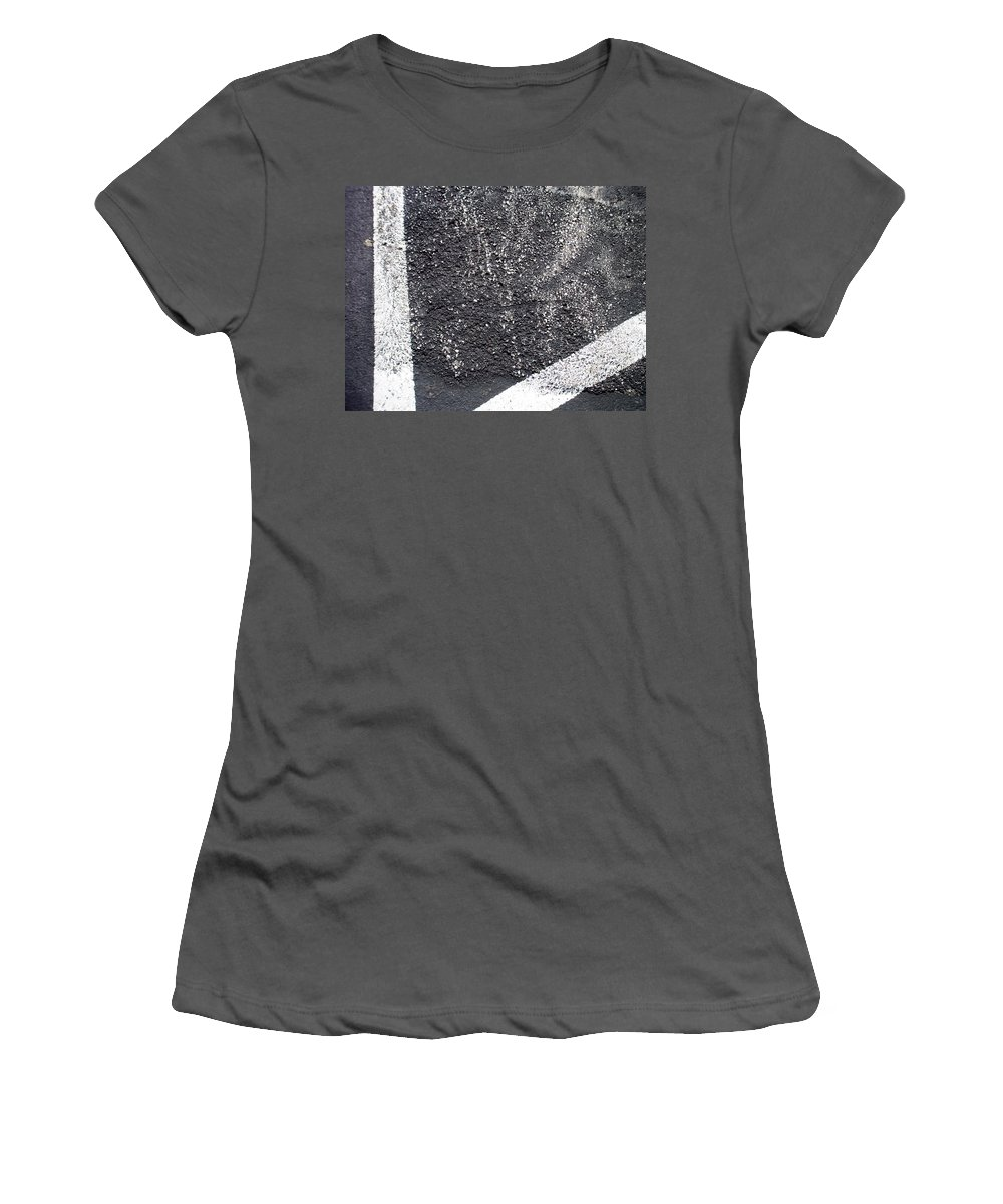 Parking Lot Women's T-Shirt (Athletic Fit) featuring the photograph Parking Lot 4 by Anita Burgermeister