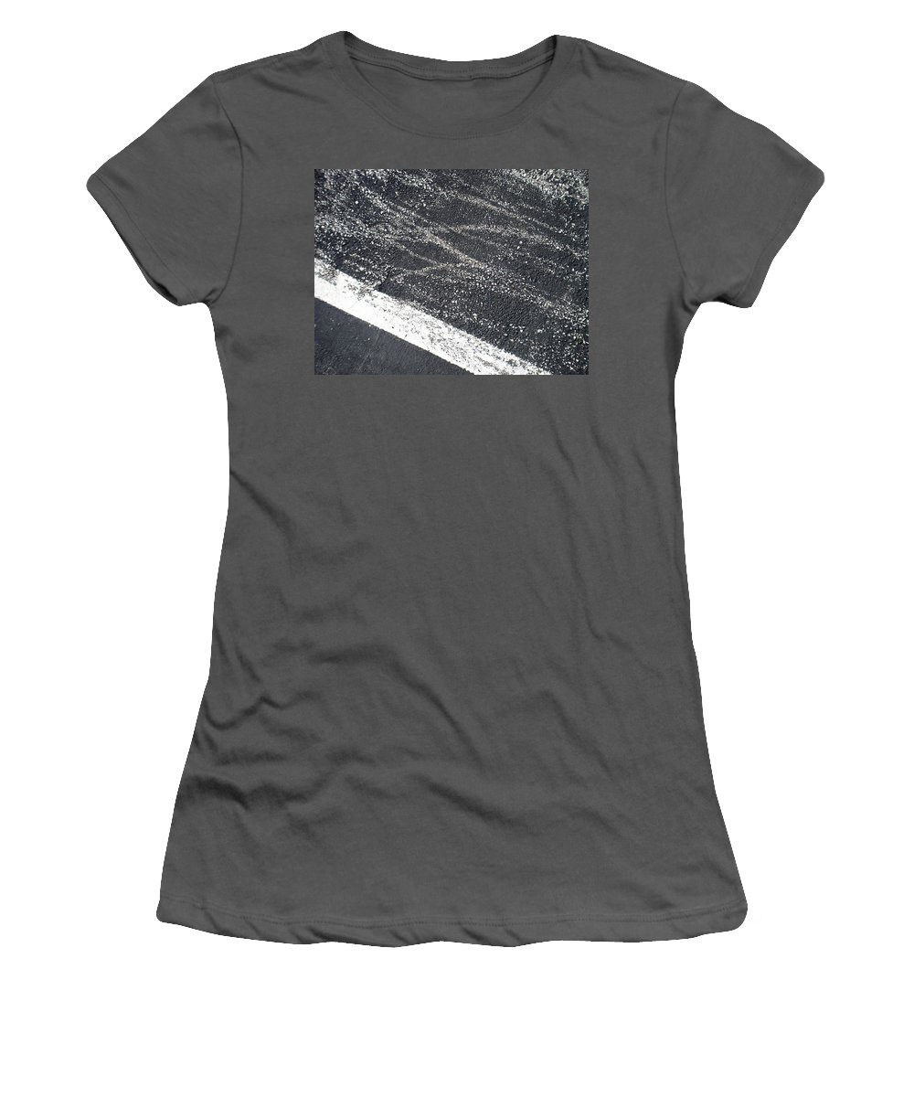 Parking Lot Women's T-Shirt (Athletic Fit) featuring the photograph Parking Lot 5 by Anita Burgermeister