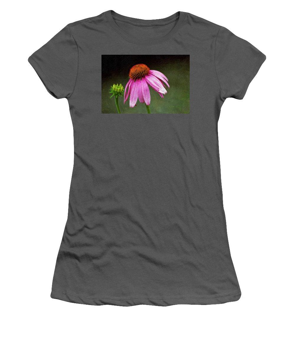 Flower Women's T-Shirt (Athletic Fit) featuring the photograph Passages Impasto by Steve Harrington