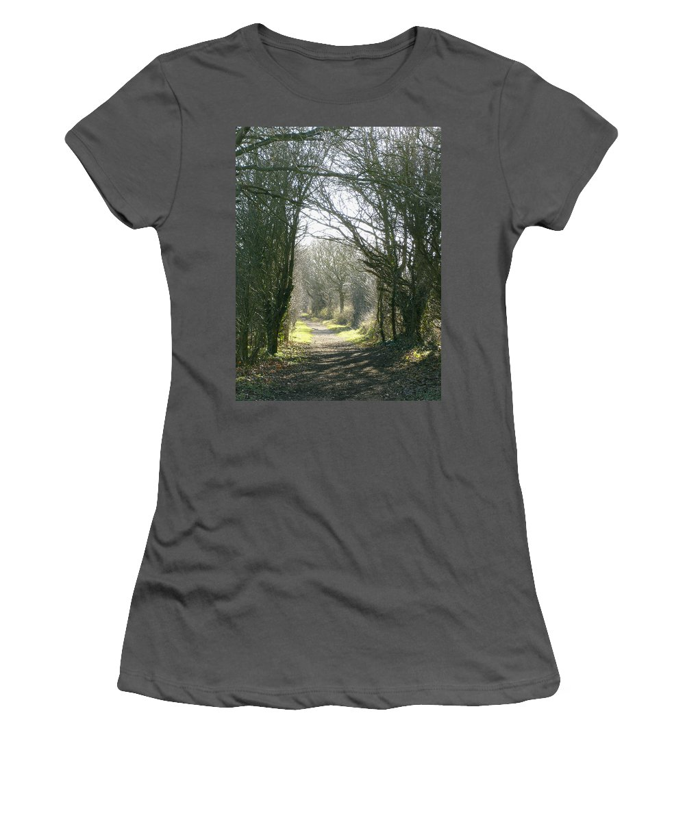 Path Women's T-Shirt (Athletic Fit) featuring the photograph Path To Wherever by Susan Baker