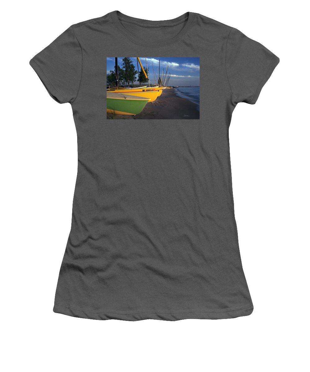 Photography Women's T-Shirt (Athletic Fit) featuring the photograph Peaceful Evening by Frederic A Reinecke