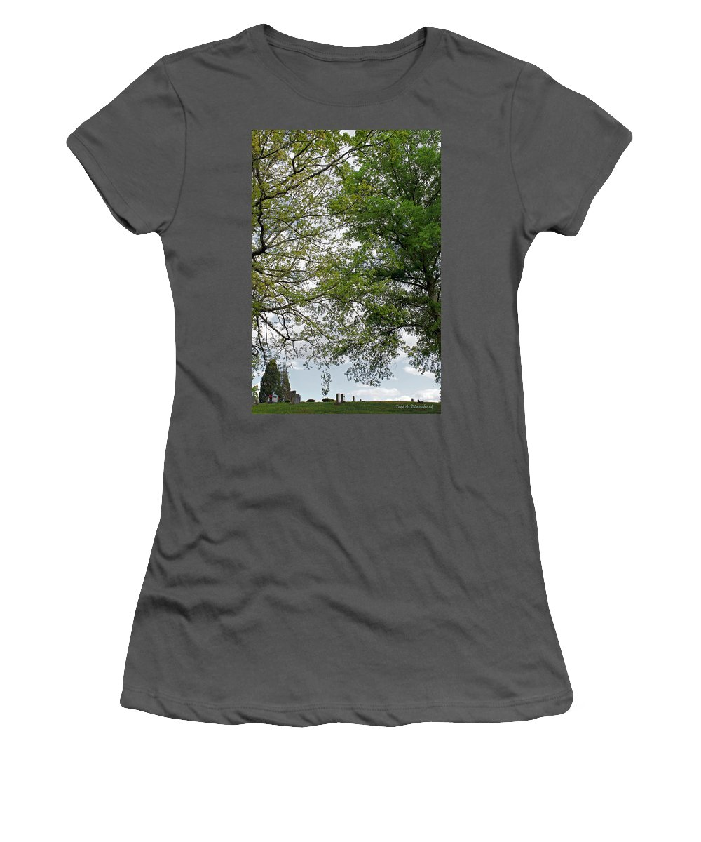 Landscape Women's T-Shirt (Athletic Fit) featuring the photograph Peaceful Grandeur by Todd Blanchard
