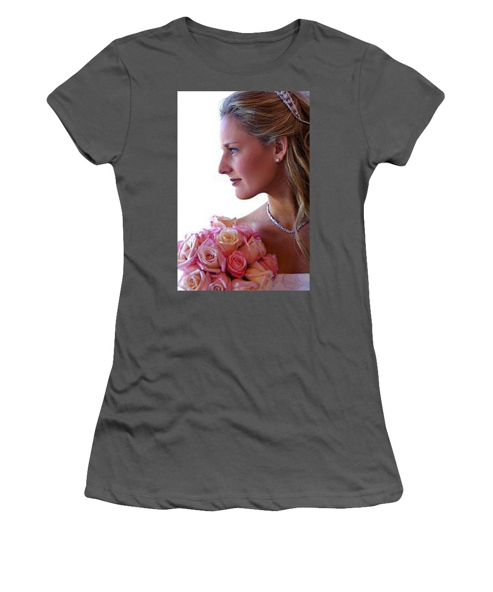 Bridal Women's T-Shirt (Athletic Fit) featuring the photograph Peachy by John Graziani