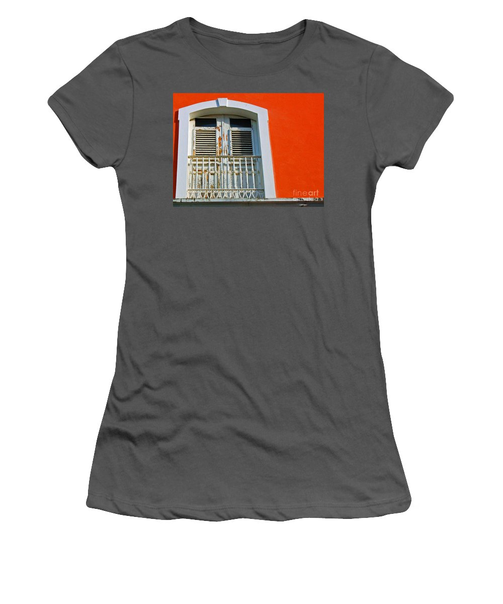 Shutters Women's T-Shirt (Athletic Fit) featuring the photograph Peel An Orange by Debbi Granruth
