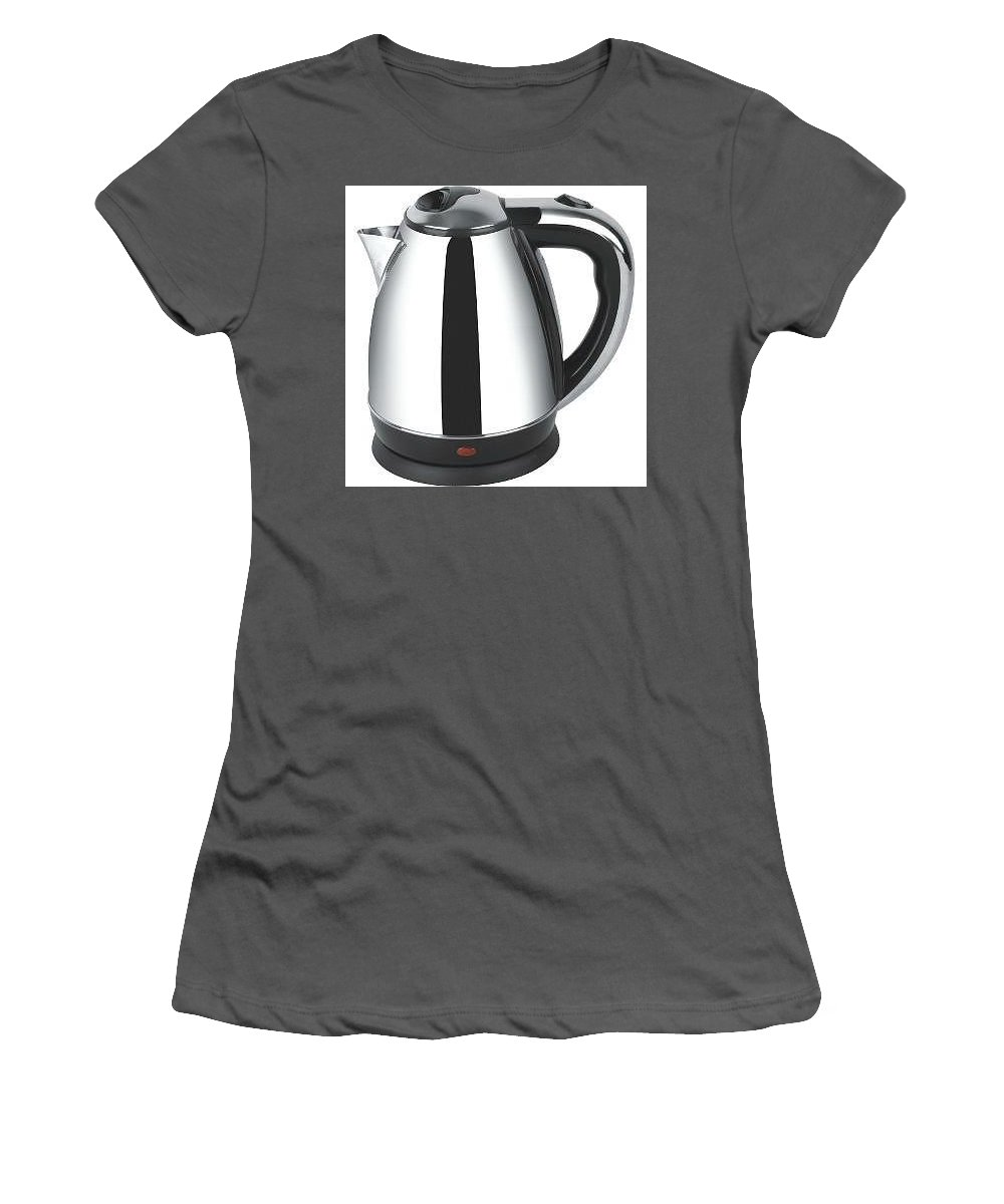 Women's T-Shirt (Athletic Fit) featuring the mixed media Philips Electric Kettle by Saledada