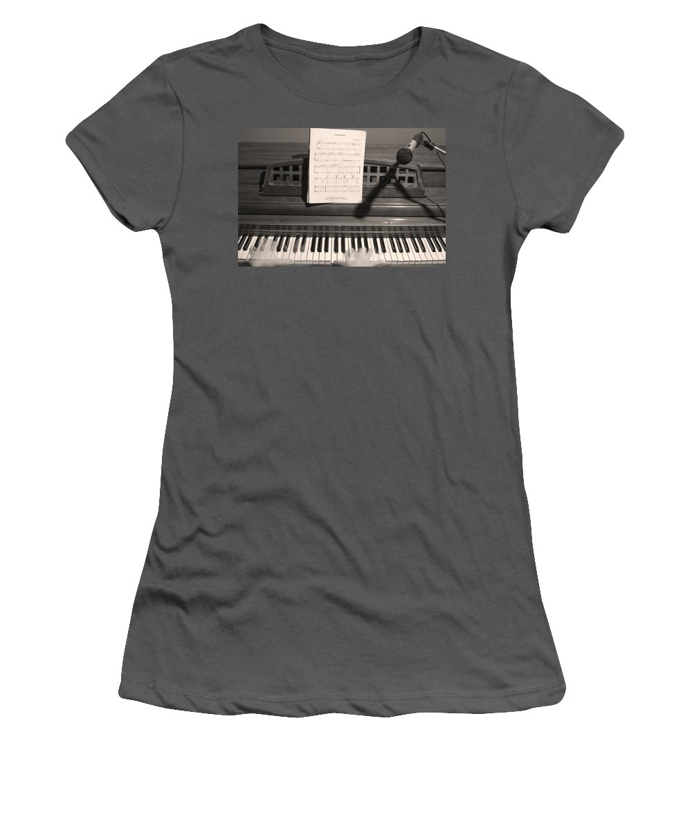 Piano Women's T-Shirt (Athletic Fit) featuring the photograph Piano Man by James BO Insogna