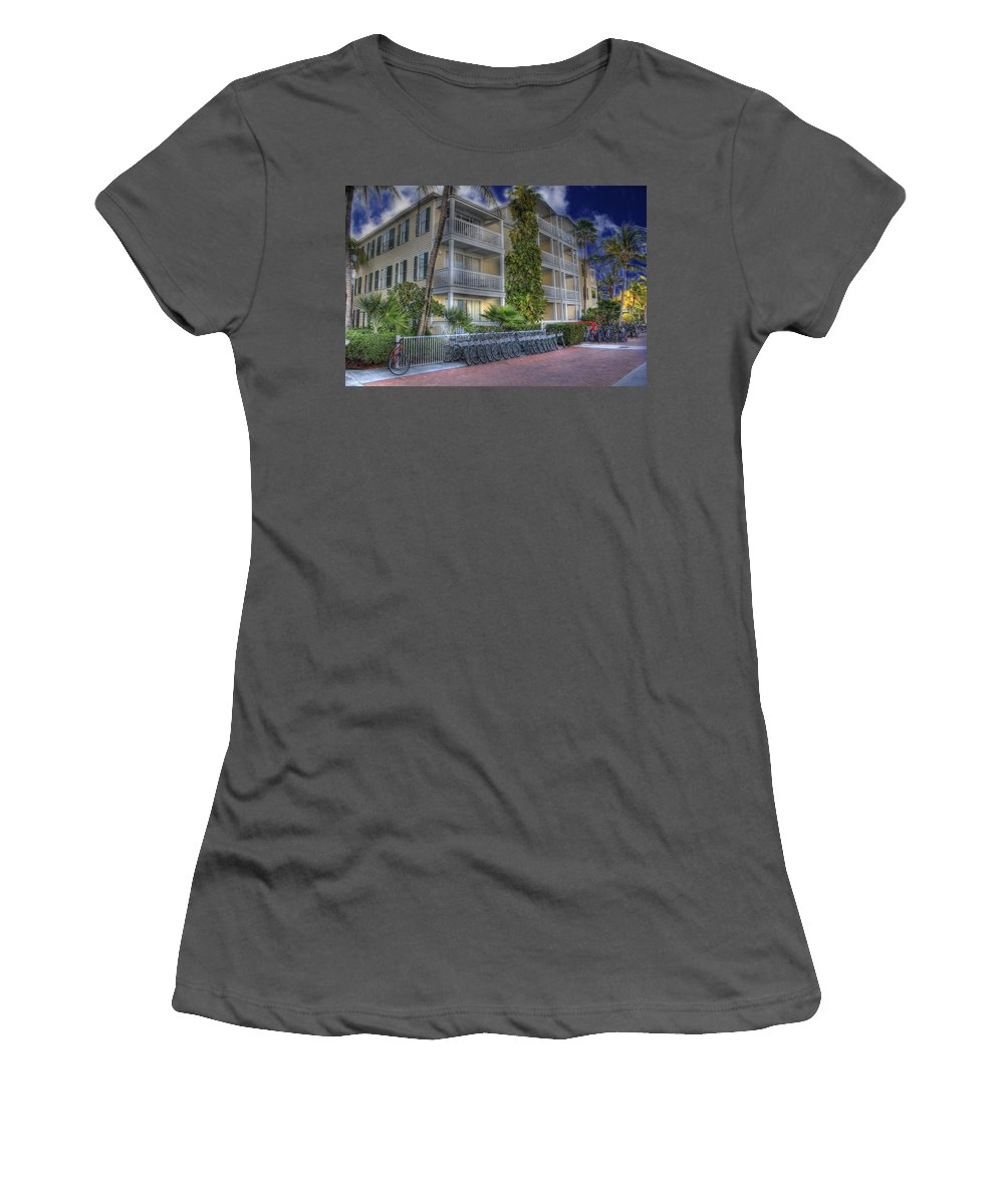 Key West Women's T-Shirt (Athletic Fit) featuring the photograph Pier B by Shelley Neff