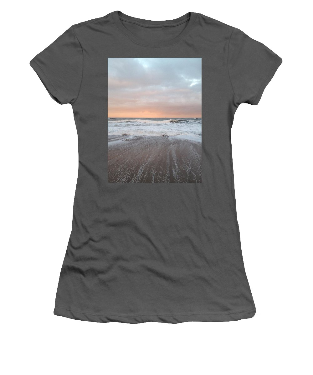 Sea Women's T-Shirt (Athletic Fit) featuring the photograph Pink Light by Scott Brennan